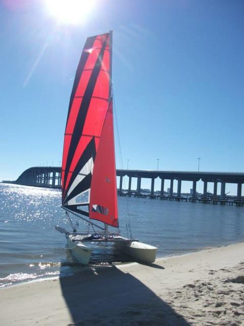 Prindle 16 catamaran sailing - YouTube